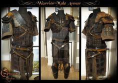 Warrior Male Armor - Servitude comic book by Deakath on DeviantArt Viking Armor, Larp Armor, Viking Helmet, Knight Armor, Medieval Armor, Vikings, Leather Armor, Armor Concept, Cosplay