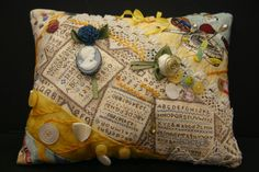 Crazy Quilted Hand-Embroidered by SallysCrossStitch on Etsy