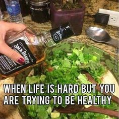 When life is hard but you are trying to be healthy
