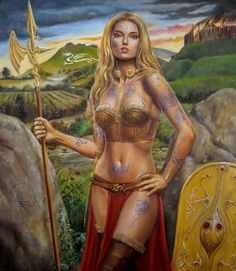 NEMAIN (Nemainn, Nemon,Neman, Némain, Neamhain, Nemhain,Nemain )was a shadowy early Irish war-goddess, and wife or consort of Néit son of Induí son of Tuireann Delbáeth, along with Fea Badb, whose identity she may share. Old Irish texts cite three goddesses of war, Badb, Macha, and Mórrígan, known collectively as Mórrígna. Sometimes Nemain is substituted in the trio for either Badb or Mórrígan.