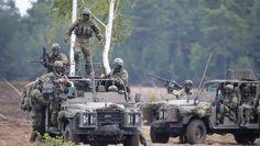 """Allzeit bereit? Soldaten der Nato-""""Speerspitze"""" bei einer Übung in Polen in der vergangenen Woche"""