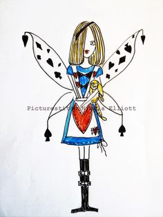 "Embroidery Digital File  ""Alice Fairy"" 4X4 5X7 6X10 by NicolaElliott on Etsy"