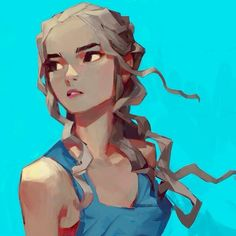 Daenerys in blue #gameofthrones 84/100