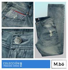 ¡Descubre el nuevo fit de M.bö!  Un poco más slim pero dentro del acabado regular. Cod. OMPJ0022. #mbö #fit #jeans #newarrival