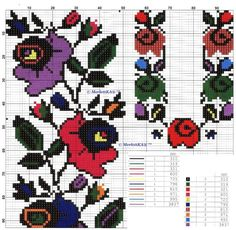 This Pin was discovered by Окс Cross Stitch Borders, Cross Stitch Rose, Cross Stitch Flowers, Folk Embroidery, Cross Stitch Embroidery, Embroidery Patterns, Loom Beading, Beading Patterns, Vintage Cross Stitches