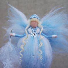 Winter Fairy Fairy felt Ornament fairy Fairy needle felted