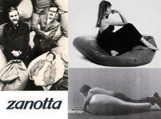 #Poltrona #Sacco di #Zanotta, disegnata nel 1968 da Gatti, Paolini e Teodoro. Destruttura il concetto di #seduta.