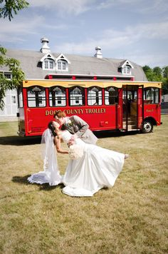 Who needs a limo?  Transportation by Door County Trolley ;-)