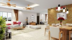 Living Room at Aster Court Real Estate Development, Blue Lagoon, Condominium, Modern Architecture, Aster, Lounge, Contemporary, Living Room, Building