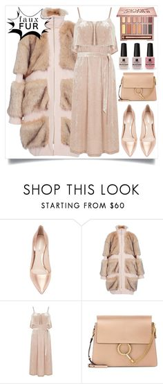"""""""#fauxfurcoats"""" by itsybitsy62 ❤ liked on Polyvore featuring Nicholas Kirkwood, Christian Siriano, Warehouse, Chloé, Victoria's Secret, Urban Decay and fauxfurcoats"""
