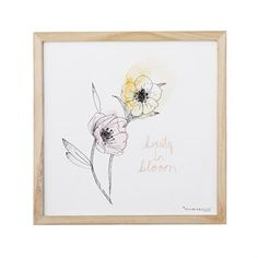 The pretty art print with flowers from Bloomingville is a lovely motif in pastel colors with a wooden frame. Create a personal picture wall with this fine print and combine it with other fine pieces from Bloomingville!