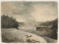 """Niagara Falls from Canadian Side,"" William Dunlap, 1815, watercolor on wove paper, 8 15/16 x 11 1/8"", Addison Gallery of American Art."