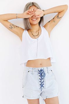 One Teaspoon Chambray Short - Urban Outfitters
