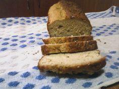 Paine cu tarate | Dieta Dukan Banana Bread, Desserts, Food, Tailgate Desserts, Deserts, Essen, Postres, Meals, Dessert