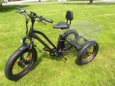 Fat tire electric tricycle - blowout sale now Electric Bikes For Sale, Electric Bike Kits, Electric Scooter For Kids, Electric Tricycle, Electric Cycles, Electric Bike Motor, Tricycle Bike, Bicycle Seats, Trike Bicycle