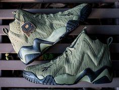 Reebok Kamikaze II Olive Reignman Sneaker Games 98cbda5c64cd
