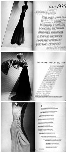 Layouts for Harper Bazaar by Alexey Brodovitch. http://www.designishistory.com/1940/alexey-brodovitch/