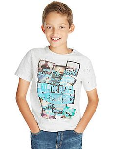 Multi Pure Cotton Wave Dye Surf T-Shirt (5-14 Years)