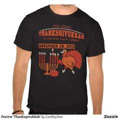 Festive 'Thanksgivukkah' Tshirts #holidays #thanksgiving #hanukkah - I want this shirt!!