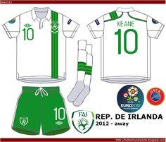 Republic of Ireland away kit for Euro 2012.