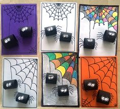 Halloween Arts And Crafts, Halloween Projects, Halloween Kids, Fall Crafts, Craft Activities For Kids, Preschool Crafts, October Crafts, Spider Crafts, Halloween Painting
