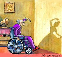 """""""How others see you, is not important ~ How you see yourself, means everything"""" ~ anon • cartoonist: Ana Von Rebeur"""