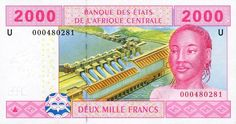 Central African Republic - 2000 CFA Francs (Front)