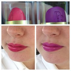 Black radiance lipsticks in hibiscus and african violet
