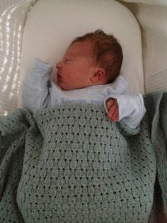 Free knitting pattern for baby blanket Finlay pattern by Frederica Patmore