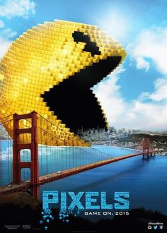 These PIXELS posters show Earth being invaded by Space Invaders, Pac-Man, Centipede, and DK! - Ain't It Cool News: The best in movie, TV, DVD, and comic book news.