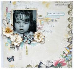 'A Beautiful Life' start to finish layout for My Creative Scrapbook