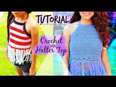 Tutorial Halter Top Ganchillo   Crochet Fácil y Rápido - YouTube