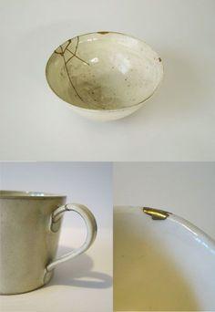 Kintsugi, Wabi Sabi, Gold Work, Tea Ceremony, Japanese Art, Im Not Perfect, Body Art, Clay, Pottery
