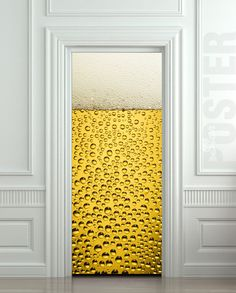 Wonderful GIANT Door Wall STICKER BEER Bubbles Drops Foam Decole By Pulaton, $29.99