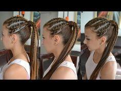 Peinado con Trenzas Africanas │ Peinado Casual│ Belleza sin Limites - YouTube