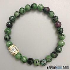 Yoga Bracelets. Beaded Stretch Charm Jewelry. Chakra Mantra . Reiki Meditation Mala. Healing.