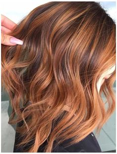 copper brown hair