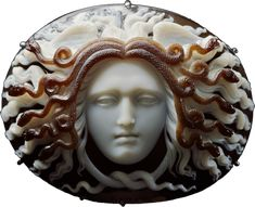 Medusa Cameo, Neoclassical Georgian (Late 18th - early 19th century)