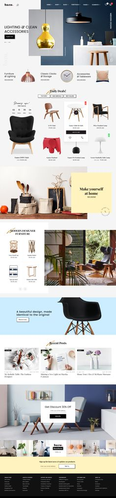 BAZU | Multi-Purpose Responsive eCommerce PSD Template #shop #simple #store • Download ➝ https://themeforest.net/item/home-market-furniture-and-accessories-ecommerce-psd-template/20821287?ref=pxcr