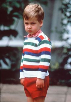 The best royal baby pictures:A grumpy William at Kensington Palace.