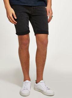 Grey Denim Stretch Skinny Shorts - New Arrivals - New In - TOPMAN