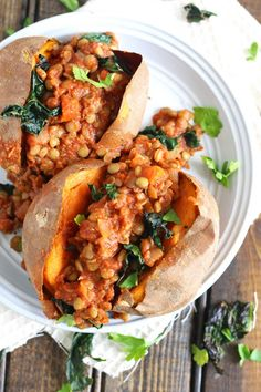 Barbecue Lentil Stuffed Sweet Potatoes | Emilie Eats