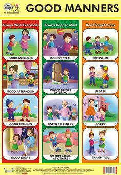 Kids Discover Good Manners Chart at Best Price in Delhi, Delhi Manners Preschool, Manners Activities, Manners For Kids, Good Manners, Teaching Manners, Preschool Learning, Preschool Activities, Teaching Kids, Preschool Charts