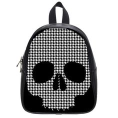 Houndstooth Skull Backpack. Preppy and Lethal--a cool style cross