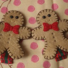 "Folksy :: Buy ""Mmmm,Christmas Gingerbread Men Hair Clips, FREE UK SHIPPING!!"" 