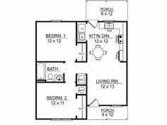 Hauspläne  Schlafzimmer and Schwimmbäder on PinterestEplans Cottage House Plan   Two Bedroom Cottage   Square Feet and Bedrooms from