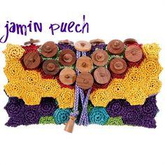 Crochet embellished Jamin Puech Handbag