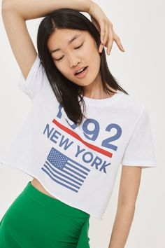 '1992 New York' Cropped T-Shirt