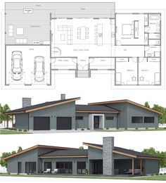 Floor Plans floorplans dwell home Floor Plans floorplans dwell home Dream House Plans, Modern House Plans, Small House Plans, Modern House Design, House Floor Plans, The Plan, How To Plan, Architecture Résidentielle, Architecture Portfolio