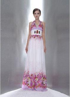 GW Blossom Chiffon V-neck Evening Dresses - Wedding & Events